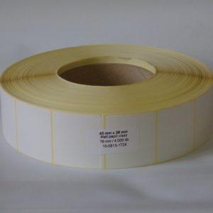 tt papír etikett 43x38 mm méret