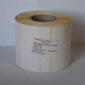 termó tekercses címke 75x37 mm méret