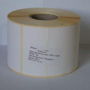 címke termó 75x50 mm