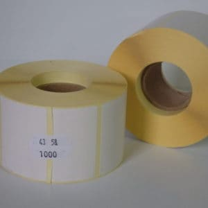 papír etikett címke 58x43 mm