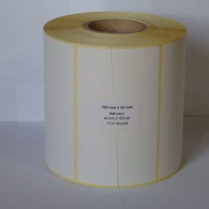 thermal etikett címke 100x50 mm öntapadós