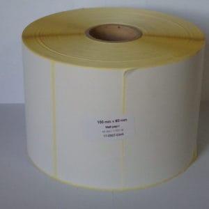termó címke 100x80 etikett tekercs