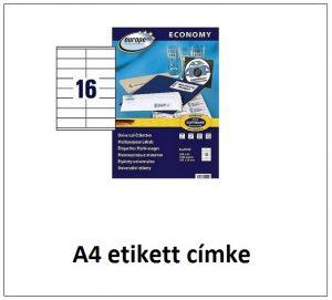 a4 etikett címke lézer és tintasugaras nyomtatóba